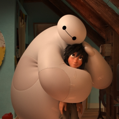 Baymax (l) and Hiro from Big Hero 6. (Photo: Walt Disney Animation Studios)