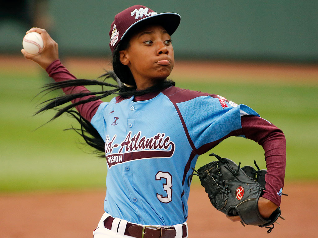 Mo'ne Davis, a Little League Baseball pitcher from Philadelphia, was the first girl to earn a win and to pitch a shutout in Little League World Series history. (Photo: People)