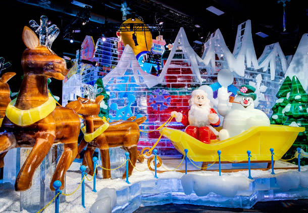 Ice! returns to Gaylord National Resort this weekend with a Frosty the Snowman theme. (Photo: Gaylord National Resort)