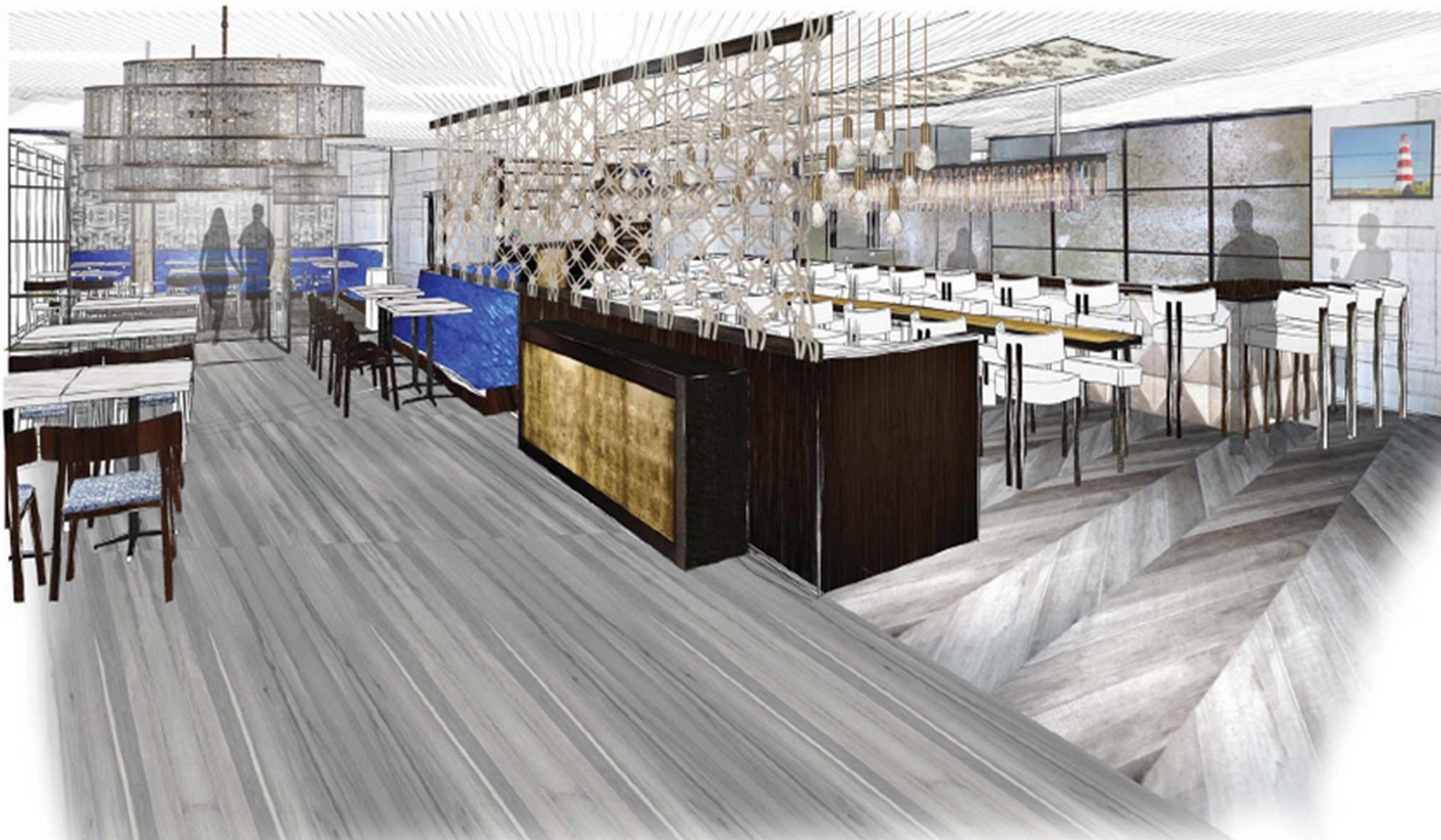 An architect's rendering of the All Set Restaurant & Bar dining room. (Graphic: All Set Restaurant & Bar)