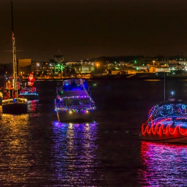 Decorated boats sail in Alexandria Harbor last years. (Photo: R. Kennedy/ACVA)