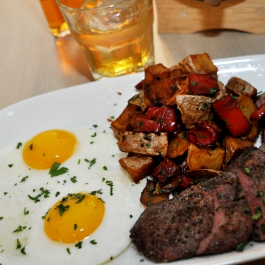 Steak and eggs with breakfast potatoes from Second State's Sunday brunch menu. (Photo: Second State)
