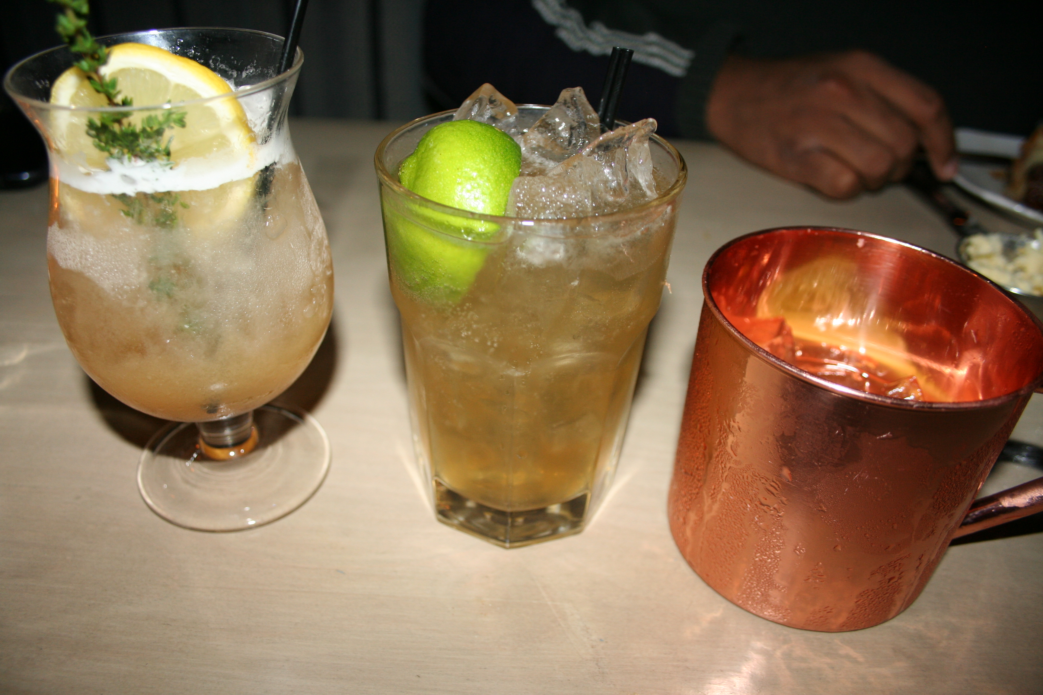 The Liberty Punch (l to r), Old City Rickey and Dutch Mule from Second State. (Photo: Mark Heckathorn/DC on Heels)