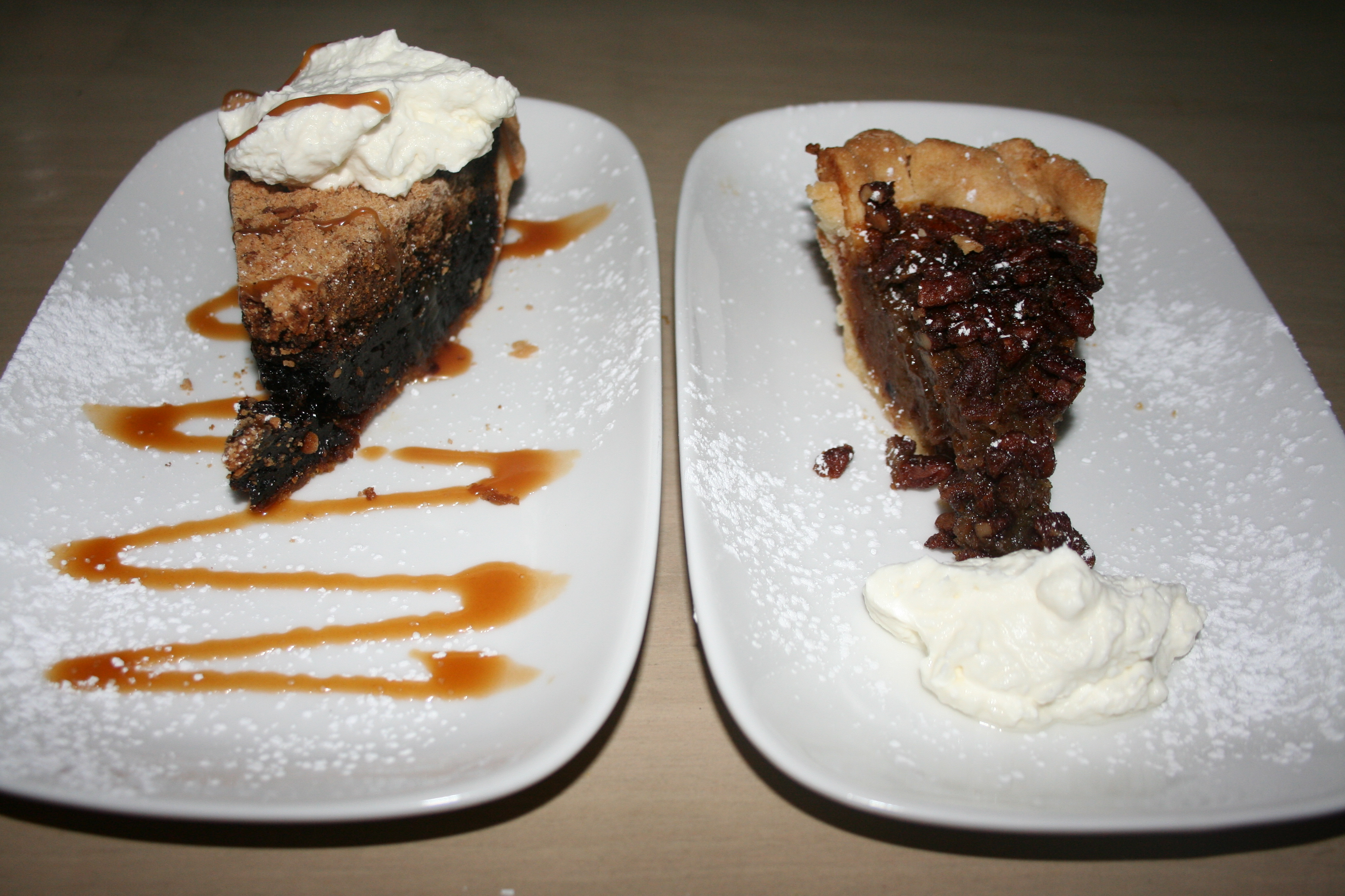Shoefly pie (left) and pecan pie are a great end to the meal. (Photo: Mark Heckathorn/DC on Heels)