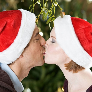You never know who you'll find under the mistletoe this holiday season. (Photo: telegraph.co.uk)