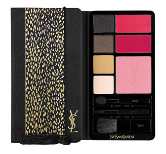 The Yves Saint Laurent Beaute Palette Multi Usage Noel 14 kit contains everything you need to create smoky eyes and strong lips. (Photo: Yves Saint Laurent)