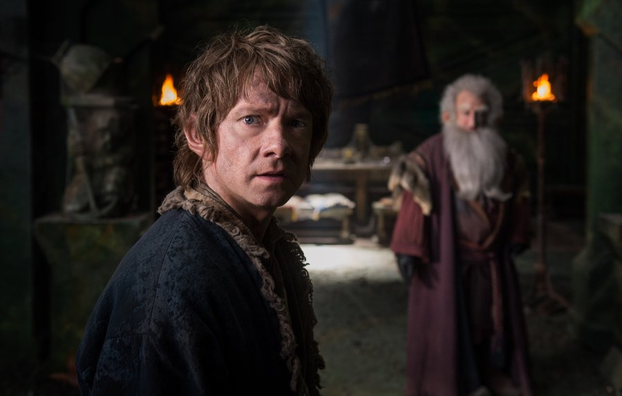 """Martin Freeman and Ken Stott in """"The Hobbit: The Battle of the Five Armies."""" (Photo: Warner Bros. Pictures)"""