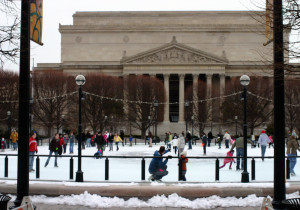 Enjoy time ice skating in the Sculpture Garden on the Mall. (Photo: Jon L. Hussey)