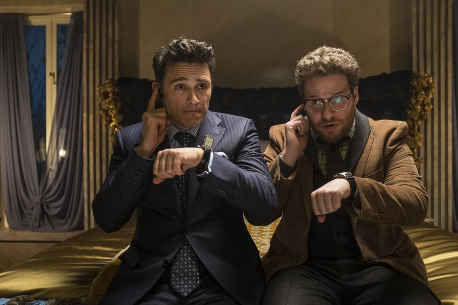 """The Interview,"" with James Franco (left) and Seth Rogan, took in about $20 million last weekend through limited theatrical release and online rentals. (Photo: Ed Araquel/CTMG)"