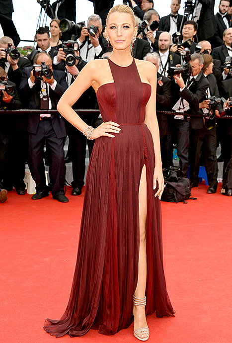 Blake Lively wears a marsala colored gown at Cannes in May 2014. (Photo: Pascal Le Segretain/WireImage)