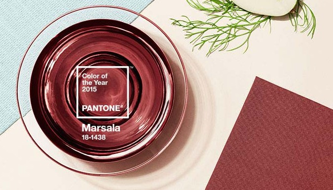 Marsala, a redish-brown with blue undertones, is the 2015 color of the year. (Photo: Pantone)
