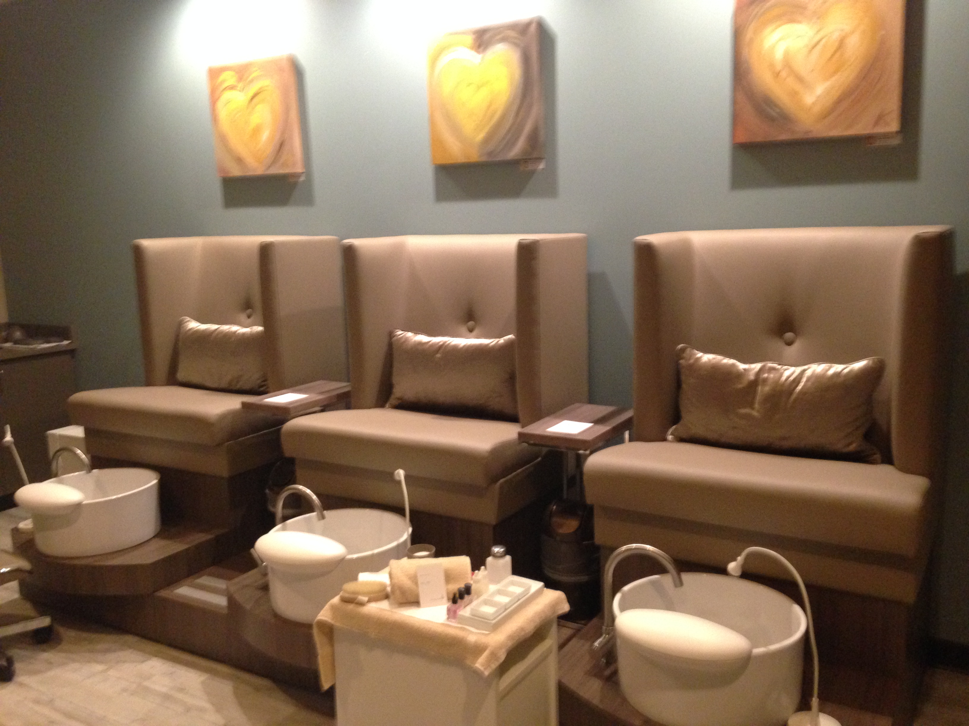 The Sole Room, where guests can enjoy luxurious manicures and pedicures (Photo: Lia Phipps/DC on Heels)