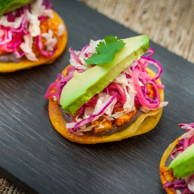 Achiote mahi mahi tostadas from Zengo's Test Kitchen: Mexico to Korea menu. (Photo: Zengo)