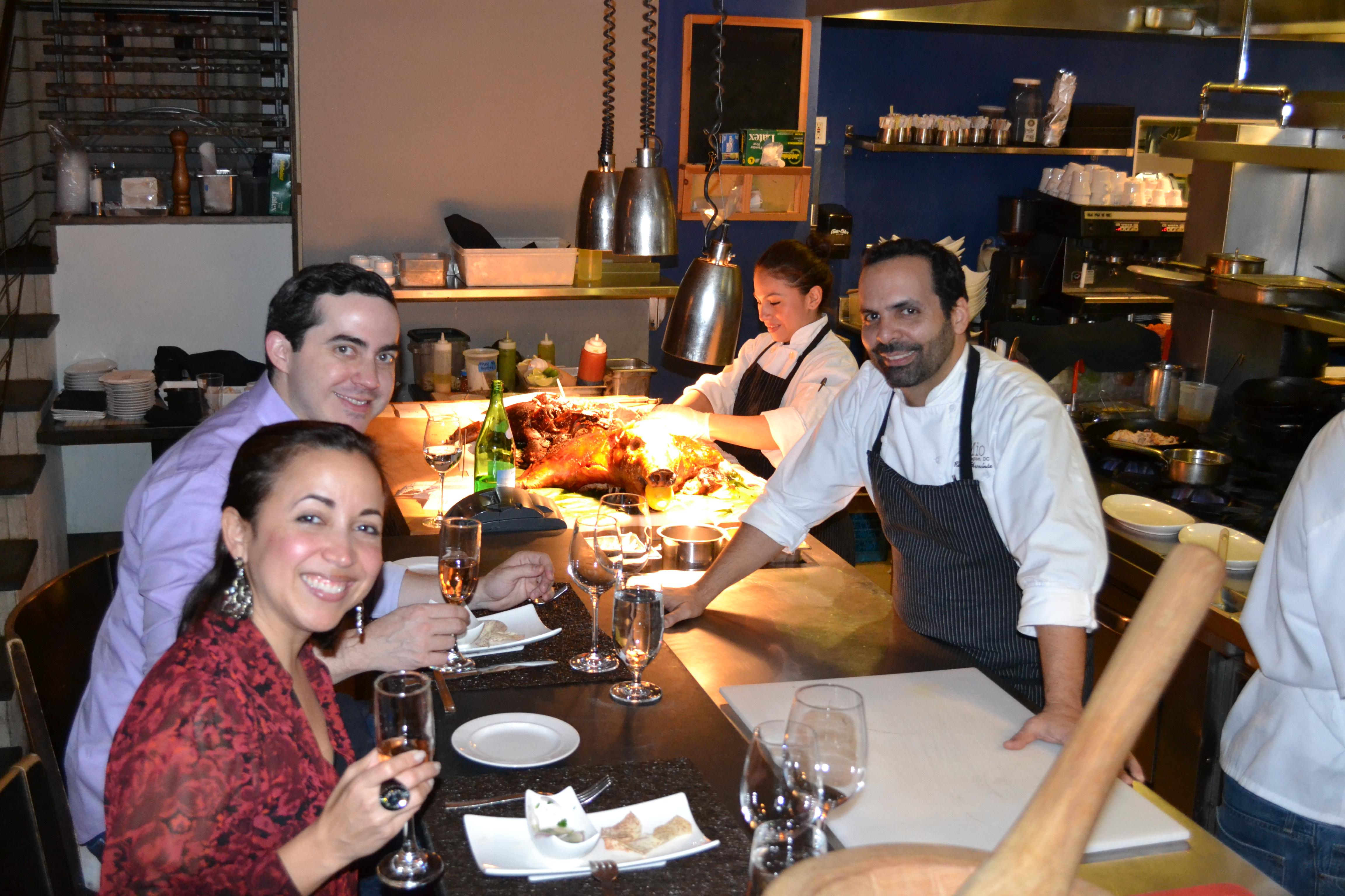 chef Roberto Hernandez prepares a nine-course tasting menu at the new chef's counter. (Photo: Mio)