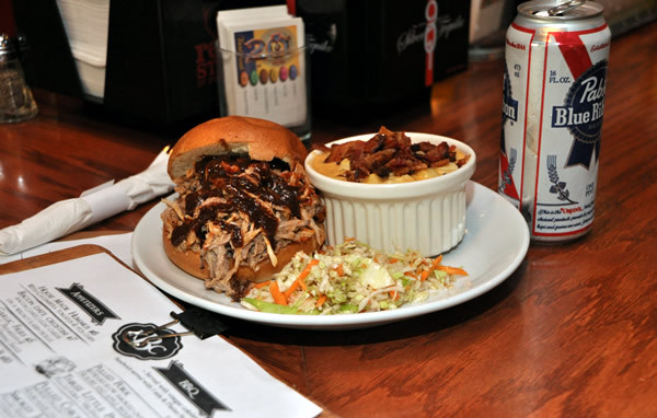 Kangaroo Boxing Club will deliver its pulled pork, bacon gorgonzola, brioche buns and sweet mild sauce for 10 in D.C. on Super Bowl Sunday. (Photo: Michael Key/Washington Blade)