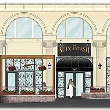 Edward Lee will open Succotash in National Harbor in May. (Graphic: Rich Markus Architects/Kneed Hospitality + Design)