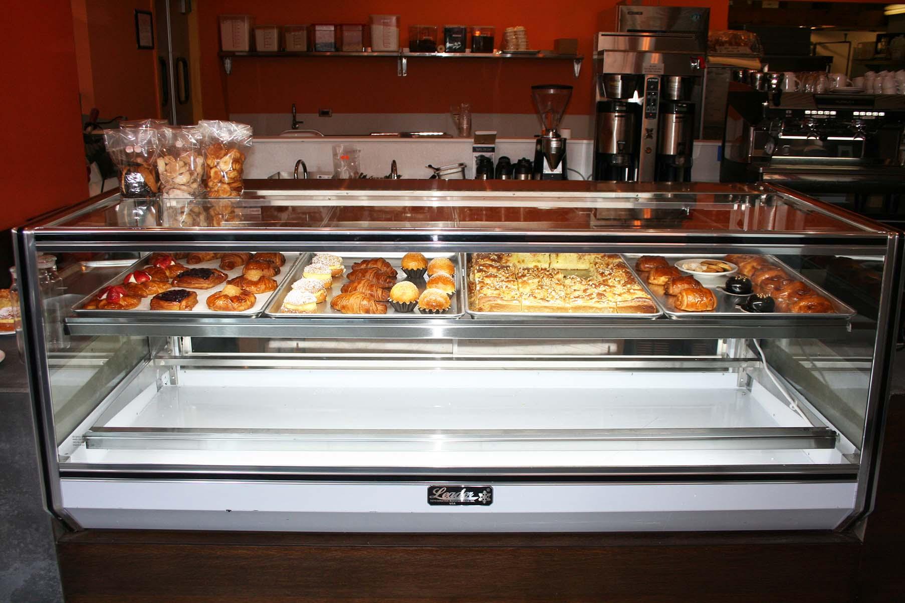 The large showcase displays freshly made sweets. (Photo: Mark Heckathorn/DC on Heels)