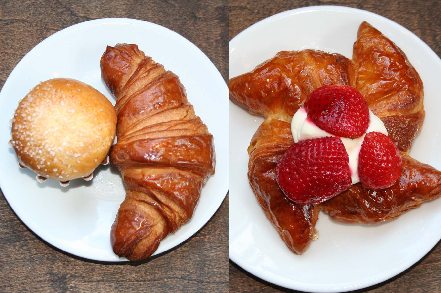 Zucker brötchen (sugar buns), croissants and strawberry custard pinwheels (l to r) will be among the shops morning offerings. (Photo: Mark Heckathorn/DC on Heels)