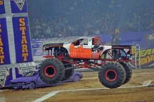 A monster truck at Monster Jam in Houston. (Photo: Kenny Lau)