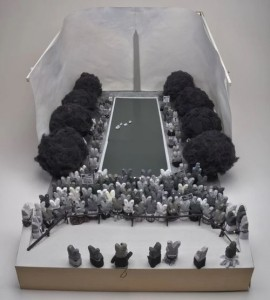 The 2014 Peeps diorama winner, I Have a Dream: Martin Luther King Jr. Addresses the Peeple. (Photo: Washington Post)