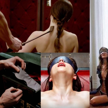 Dakota Johnson and Jamie Dornan in scenes from