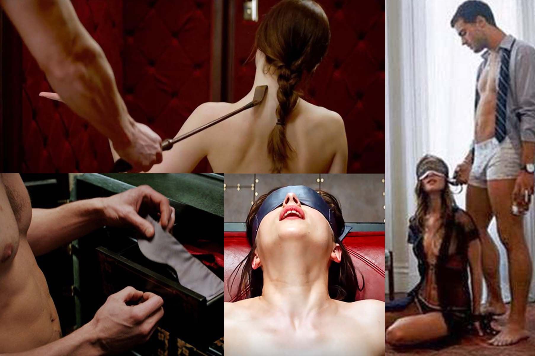 "Dakota Johnson and Jamie Dornan in scenes from ""Fifty Shades of Grey."" (Photos: Universal Pictures)"