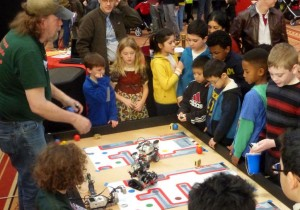 Children can learn about engineering like robotics (pictured here) at the National Building Museum's Discover Engineering Family Fun Day. (Photo: National Building Museum)