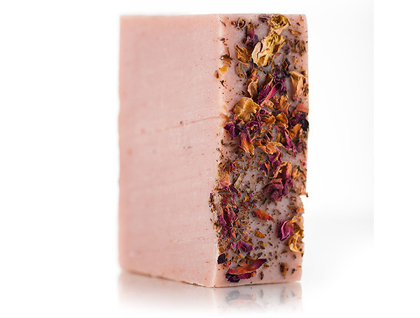 Osmia Organics Milky Rose Soap: Infused with roses and covered in rose petals, this soap is seriously luxurious and smells wonderful. (Photo: Osmia Organics)