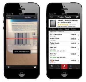Red Laser lets you compare prices by scanning a products barcode. (Photo: Red Laser)