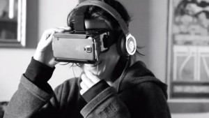 Viewers will wear special headsets to be visually immersed in Snake River. (Photo: Emiliano Ruprah/Vimeo screen grab)
