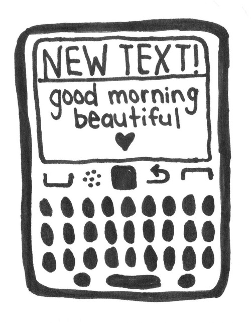 """A morning text doesn't just say """"good morning"""", it says """" I wake up thinking about you."""" (Photo: quoteimg.com)"""