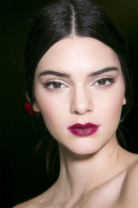 This season's hottest cherry red lip (Photo: Imaxtree)