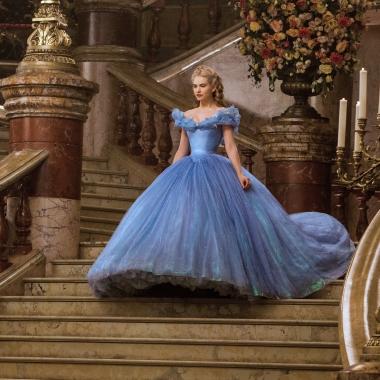 Cinderella (Lily James) enters the ball in Cinderella. (Photo: Disney)
