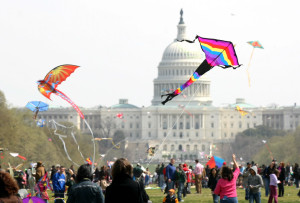 The Blossom Kite Festival is set for Saturday at the Washington Monument, weather permitting. (Photo: Smithsonian Institution)