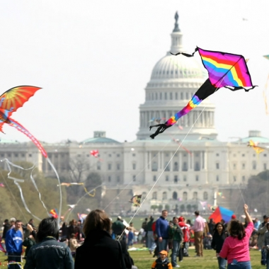 The Blossom Kite Festival is set for Saturday at the Washington Monument. (Photo: Smithsonian Institution)