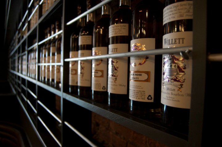 Jack Rose's extensive whiskey collection includes several Willett bourbon. (Photo: Jack Rose Dining Saloon/Facebook)
