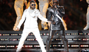 Usher (left) and Will.i.am are among the featured performers at the Global Citizen 2015 Earth Day Rally on the National Mall on Saturday. (Photo: Christopher Polk/Getty Images)