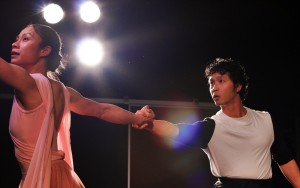 Tuyet Thi Pham plays Blossom and Jacob Yeh plays the other parts in <em>Blossom's Rainbow</em> at the Atlas Theater Friday and Saturday. (Photo: Arts on the Horizon)