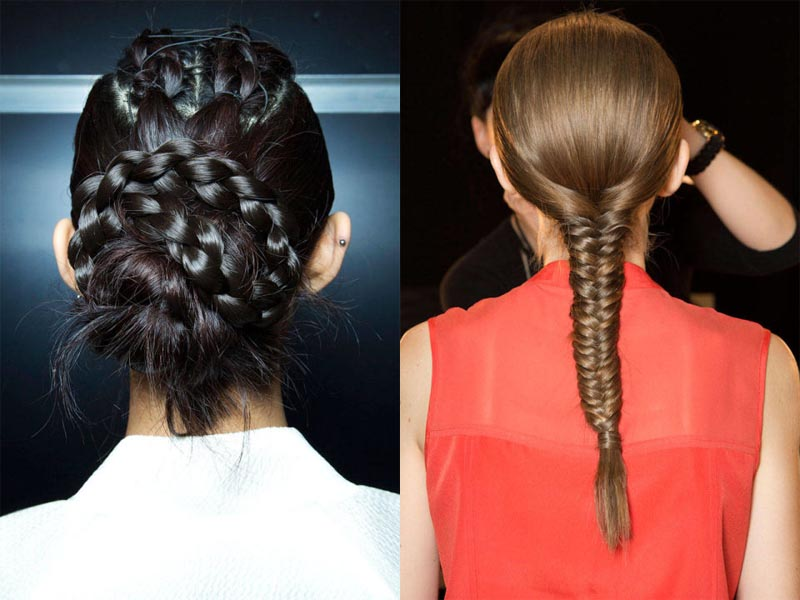 Intricate braids are currently all the rage (Photos: Imaxtree)