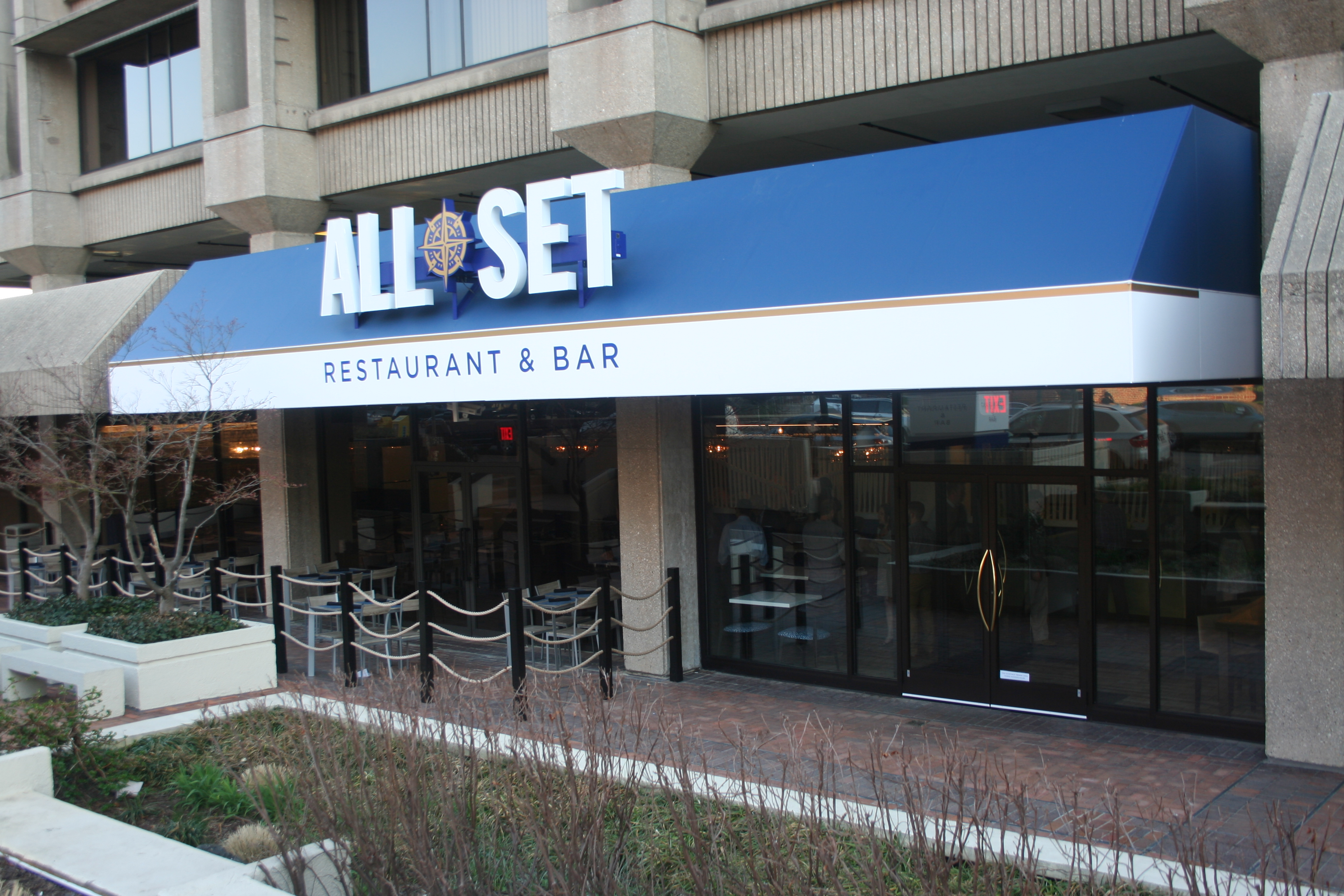 All Set Restaurant & Bar opened in the Montgomery Center on Fenton Street in Silver Spring on Tuesday. (Photo: Mark Heckathorn/DC on Heels)