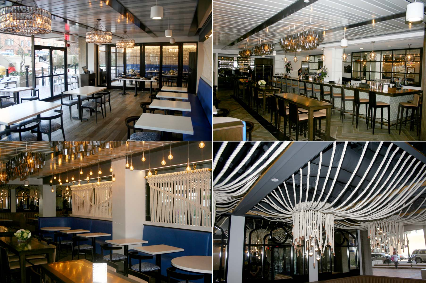 The interior of All set from the dining room to the bar is reminiscent of a New England sea shanty. (Photos: Mark Heckathorn/DC on Heels)