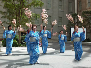 Japanese dancers preform at last year's Cherry Blossom Family Celebration at the American Art Museum. (Photo: Smithsonian American Art Museum)