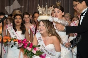 Rainey Sewell of Oklahoma is crowned the 2014 Cherry Blossom Queen with the Mikimoto Crown at last year's Grand Ball. (Photo: David Hunsinger)
