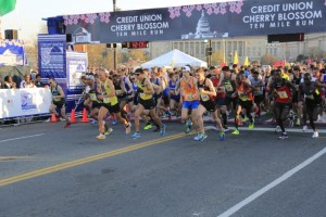 Runners start last year's Credit Union Cherry Blossom 10 Mile Run. (Photo: Credit Union Cherry Blossom 10 Mile Run)