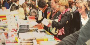 Visitors browse books at last year's festival. (Photo: World Book Day Washington)