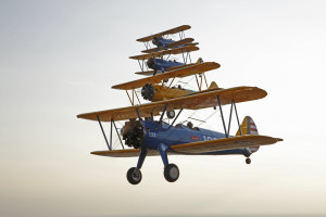 Seventy World War II vintage aircraft will participate in a 50-minute flyover of the National Mall to mark the 70th anniversary of V-E Day at 12:10 a.m. Friday. (Photo: Arsenal of Democracy Flyover)