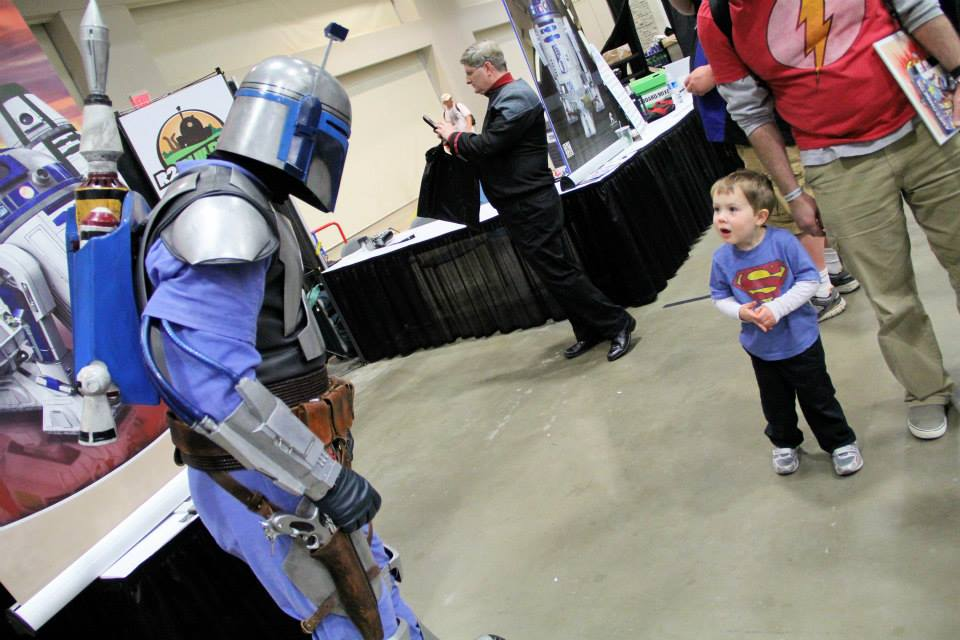 A boy meets a Power Ranger at 2014's Awesome Con. (Photo: Awesome Con)