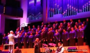 Stanley J. Thurston conducting the WPAS Men and Women of the Gospel, Choral Arts. (Photo: Milton Miller) Margot Schulman