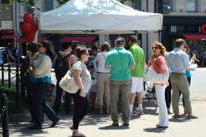 Sample food from Dupont restaurant at Taste of Dupont on Saturday. (Photo: Dupont Circle Main Streets)