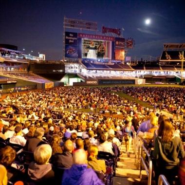 Opera in the Outfield presents Rossini's Cinderella on the scoreboard at Nationals Park on Saturday. (Photo: Scott Suchman)